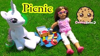Download Outside Picnic with American Girl Doll + My Little Pony Princess Celestia - Cookieswirlc Video