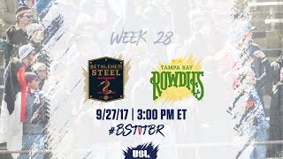 Download USL LIVE - Bethlehem Steel FC vs Tampa Bay Rowdies 9/27/17 Video