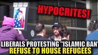Download Refugee in House (Social Experiment) at Muslim Ban Protest - Travel Ban Video