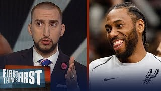 Download Nick Wright and Cris Carter on Kawhi's future with Popovich and the Spurs | FIRST THINGS FIRST Video