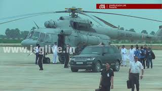 Download Prime Minister Narendra Modi Lands at Jharsuguda Airport Video