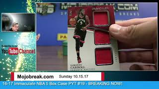 Download HUUUUGE 1/1 HIT! - 10/15 - 2016-17 Panini NBA Immaculate 5 Box Case Break PYT #19 Video