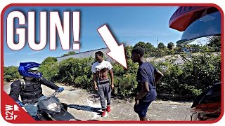 Download Chased down with a GUN!! They wanted our bikes!! [Chase and Yummi Adventure Series] Video