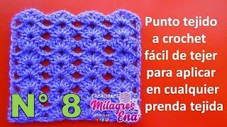 Download Punto tejido a crochet fácil de tejer para aplicar en cualquier prenda tejida Video