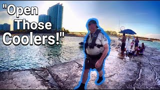 Download FWC Officer Pulls Up On Lobster Fisherman While Fishing On the Jetty! Video