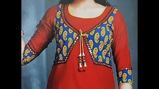 Download Front Neck Design with Choli Style | Koti Style | Jacket Style Video