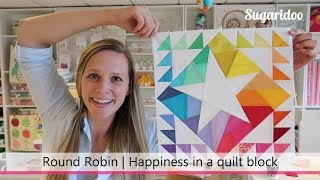 Download How to design a rainbow quilt block | Round Robin part 2 Video