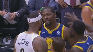 Download Kevin Durant, DeMarcus Cousins Ejected! Curry Injury Warriors vs Pelicans 2017-18 Season Video