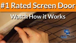 Download Magnetic Screen Door - Magic Mesh - Screen Doors - Retractable Door - Instant Bug Mesh Video