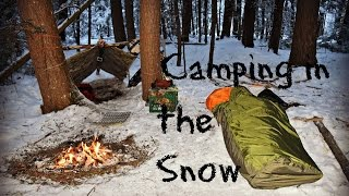 Download Solo Winter Overnight Bushcraft Camp Video