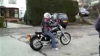 Download First ride on Yamaha Virago 535 Video