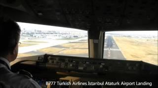 Download Cockpit View Istanbul Ataturk Airport Landing TK51 TC JJN hironuma Video