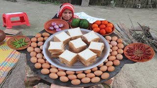 Download Yummy Bread Omelette Recipe Prepared In My Village World BEST Mouthwatering Egg Omelet Village Food Video