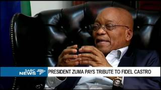 Download INTERVIEW: Pres. Zuma speaks fondly about the late Fidel Castro Video