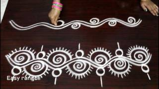 Download freehand rangoli border designs Video