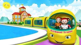 Download Cartoon School Train - Choo Choo Train Toy Factory Cartoon | Trains for Kids Video