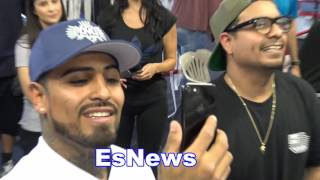 Download EPIC Funny Speedy Mares Gets Mad At Seckbach For Telling Him A Joke - EsNews Boxing Video
