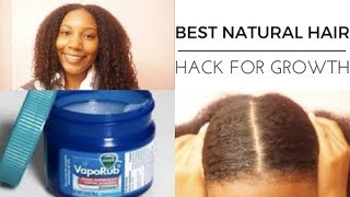 Download FAST HEALTHY HAIR GROWTH WITH VICKS VAPOR RUB TO STIMULATE GROWTH DEMO + REVIEW Video
