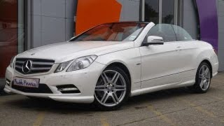Download 2011 Mercedes-Benz E250 CDI BlueEfficiency Sport Edition 125 Cabriolet White Video