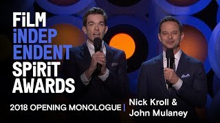 Download Nick Kroll and John Mulaney's Opening Monologue at the 2018 Film Independent Spirit Awards Video
