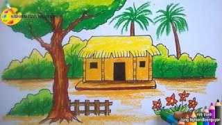 Download Vẽ ngôi nhà nông thôn/How to draw Country house Video