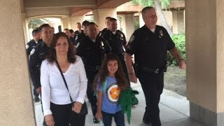 Download Fallen Cop's 8-Year-Old Daughter Escorted To School By Police Officers Video