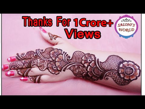 Simple Arabic Henna Mehndi Designs for Hands by Jyoti Sachdeva .