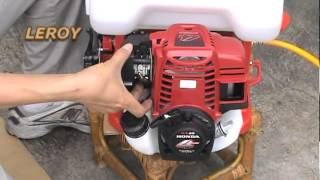 Download Knapsack Power Sprayer (Operation of LY-768-GX35) HONDA GX35 Video
