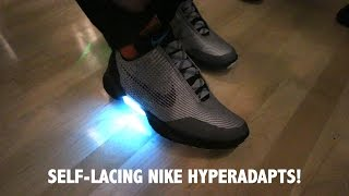 Download NIKE HYPERADAPT SELF-LACING SHOES: TINKER HATFIELD SHOWS ME HIS PAIR! Video