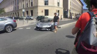 Download LAMBORGHINI AVENTADOR CRASH IN LYON ! CRASH I REVS FOR MODBALL RALLY Video