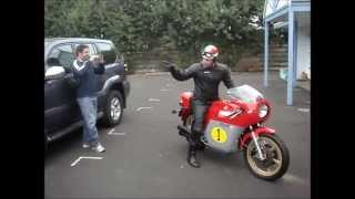 Download The road to Cowes (No Music) - 1977 MV Agusta 750 Sports America - World Superbikes 2009 Video