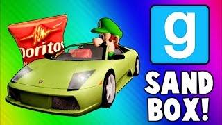 Download Gmod Sandbox Funny Moments - Driving Test, Banana Gun, Soccer Fun, To the Butt Cave! Video