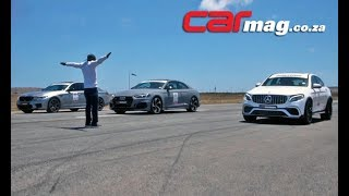 Download DRAG RACE! Audi RS5 vs. BMW M5 Competition vs. GLC63 S Coupé Video