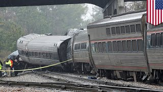 Download Amtrak crash: Amtrak collides with parked freight train due to wrongly positioned switch - TomoNews Video