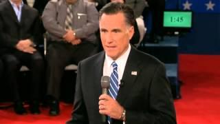 Download Mitt Romney says 'I had binders full of women' during US presidential debate Video