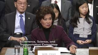 Download Fischer Exchange with Transportation Secretary Nominee Elaine Chao Video