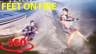 Download Walk on water with champion USA barefoot waterskiing sisters in 360 Video