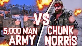 Download 5,000 MAN ARMY VS CHUNK NORRIS!! - Ultimate Epic Battle Simulator #3 Video