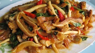 Download Fried Pig's Ear Delicious Recipe (ឆាជូរអែមត្រចៀកជ្រូក) /​ Khmer Cooking Style Video