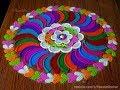 Download Navaratri special colorful rangoli | Very easy and innovative rangoli design by Poonam Borkar Video