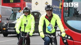 Download James May and Jeremy Clarkson trying to cycle around London safely | Top Gear - BBC Video