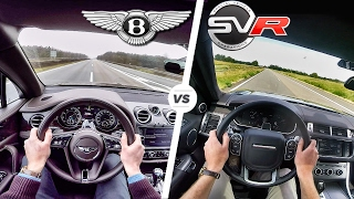 Download Range Rover Sport SVR vs Bentley Bentayga ACCELERATION 0-250 km/h Autobahn POV & SOUND by AutoTopNL Video