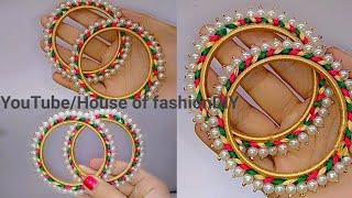 Download How To Make Silk Thread Bangles At Home//Pearl Bangles..! Video