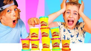 Download DON'T Choose the Wrong PLAY DOH Slime Challenge with BONUS ROUND ft The Norris Nuts Video