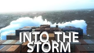 Download Ship In Storm! Bad Weather and Rough Seas in Atlantic Ocean   Life at Sea Video