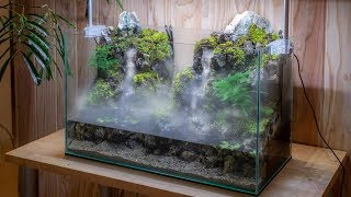 Download Making an Aquaterrarium with two flowing waterfalls【滝の飛沫を再現したい】 Video