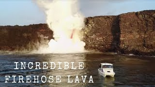 Download Incredible Firehose Lava from Drone - Hawaii Revealed Video