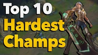 Download Top 10 Hardest Champions to Play and Master in League of Legends Video