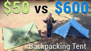 Download $50 Tent vs $600 Tent Video