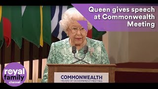Download The Queen makes speech at Commonwealth Heads of Government Meeting Video